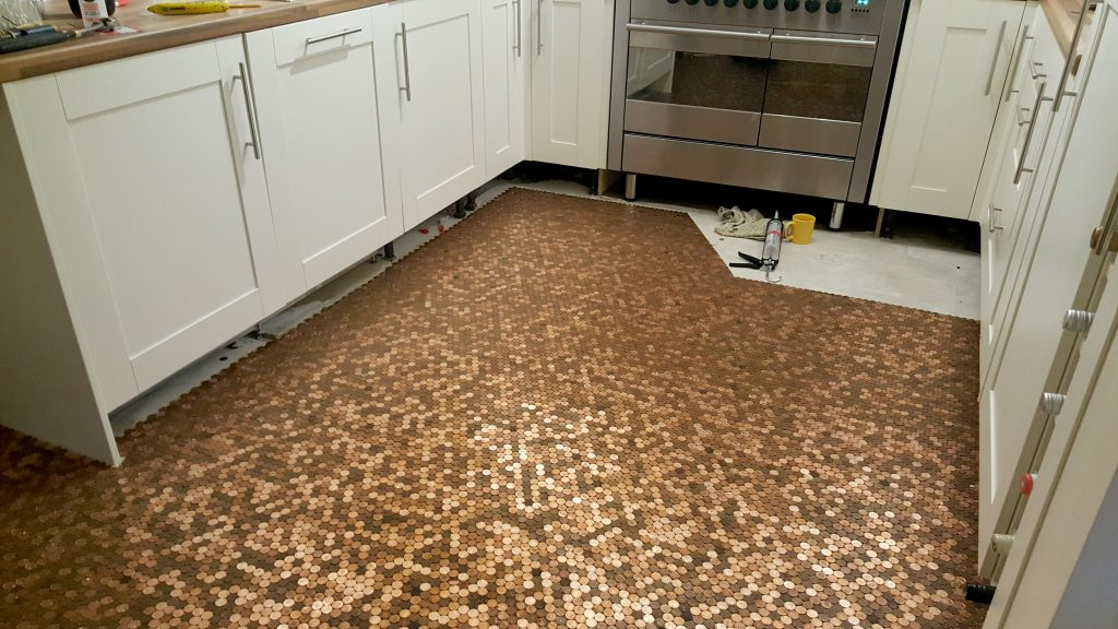 Kitchen Floor Made With One Penny Coins Storytrender
