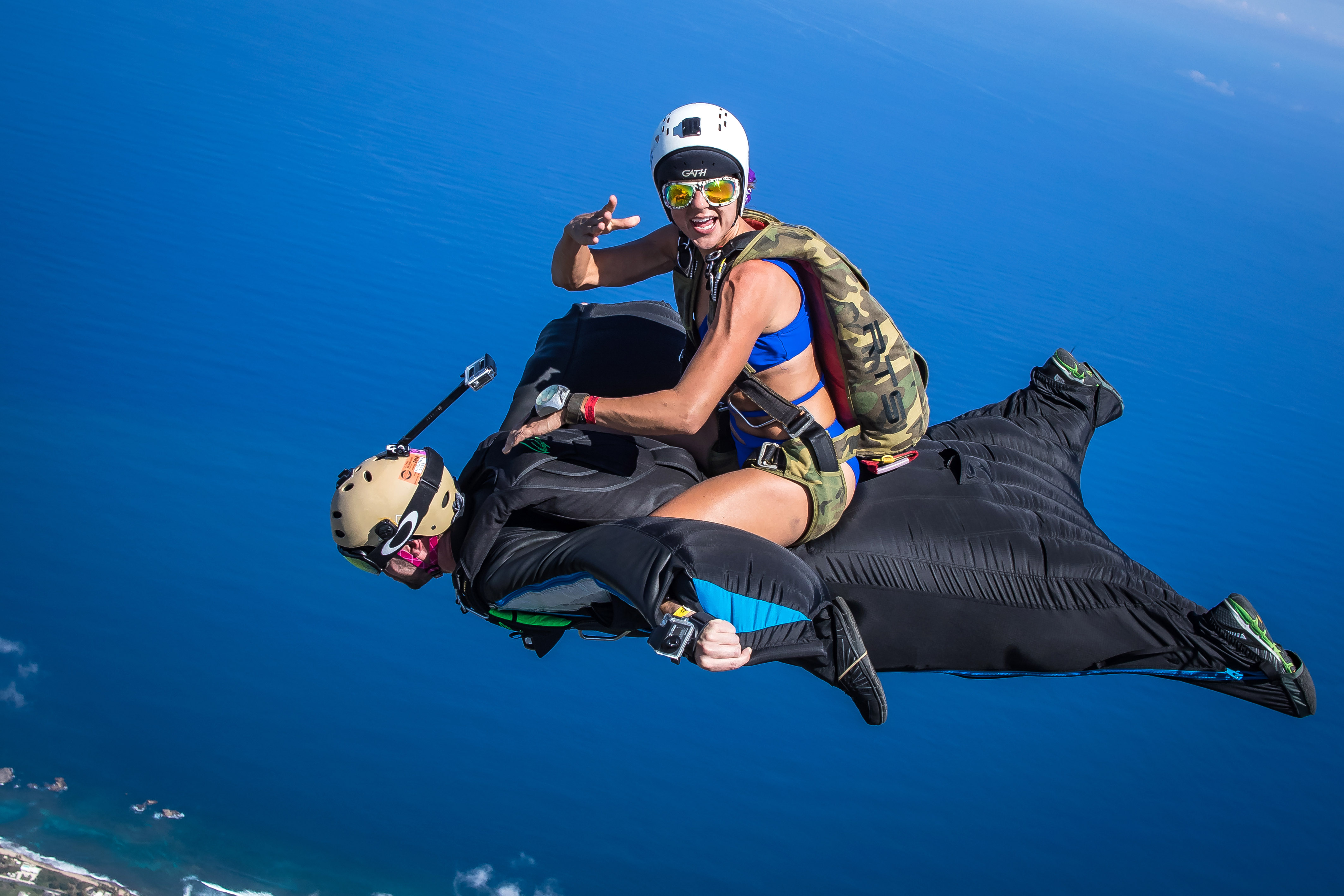 Fearless Skydiver Pulls Off Stunt As She Recreates Rodeo