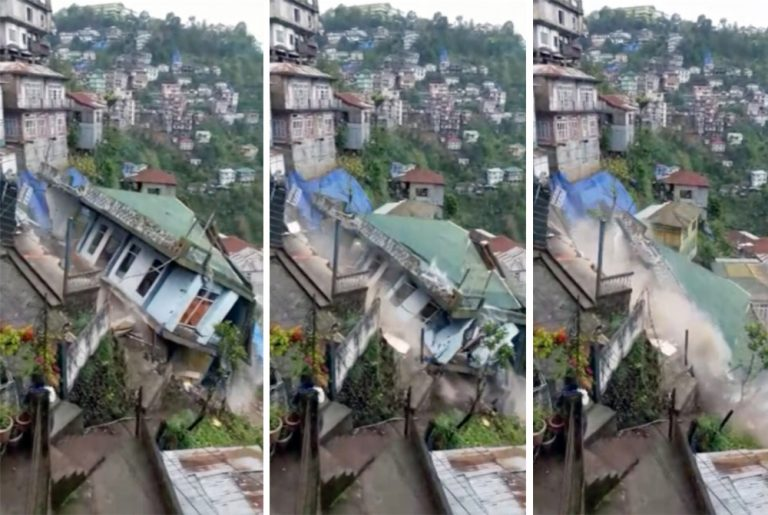 house collapse