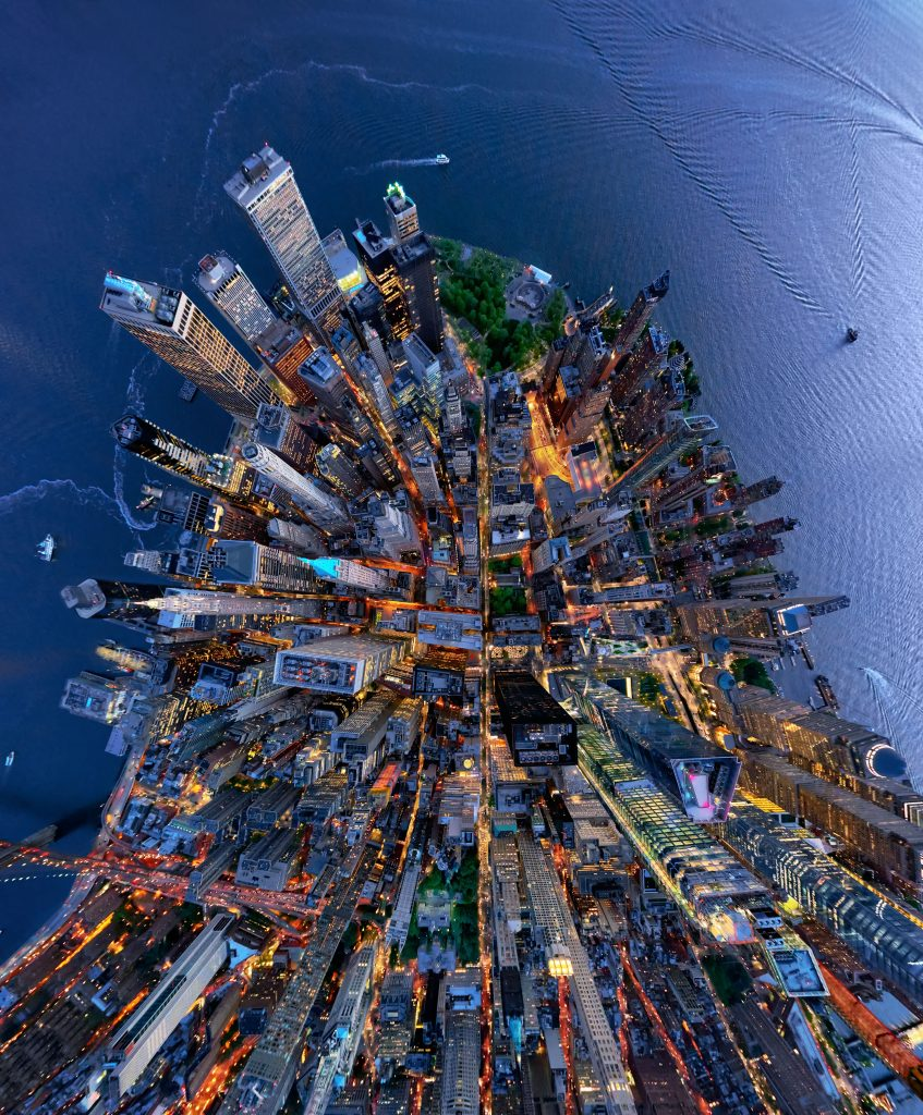 Distorted Aerial Photographs Offer A Unique Way To See The - Incredible 360 degree aerial photography by andrew griffiths