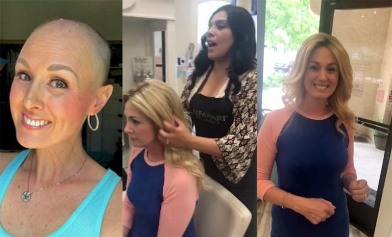 Complete strangers donate hair for cancer patient s wig - Storytrender bd8209264