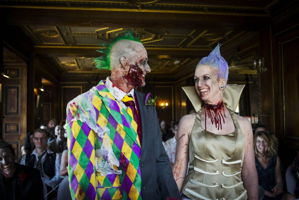 Night Of The Loving Dead Bride And Groom Declare Death Defying Love