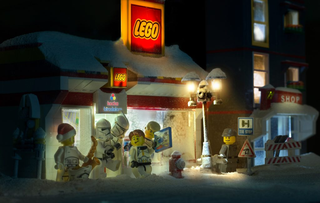 lego star wars characters celebrate a very magical christmas