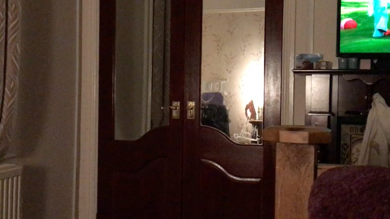 Watch Moment u0027neat freaku0027 ghost pulls wardrobe door closed as family get ready for bed & Watch: Moment u0027neat freaku0027 ghost pulls wardrobe door closed as ...