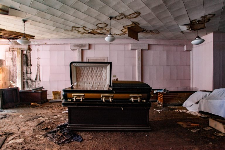 Death trap abandoned funeral home thats over 150 years old and was