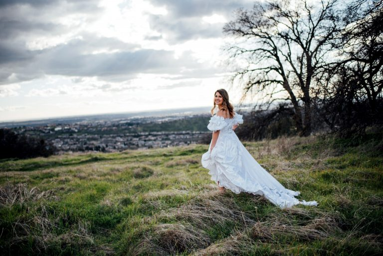 d1d49da77db Grieving bride wears her late mum s wedding dress as surprise for her dad