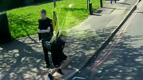 Boy cheats death after 32-tonne truck dodges him 'by six inches' after he ran out into road Image
