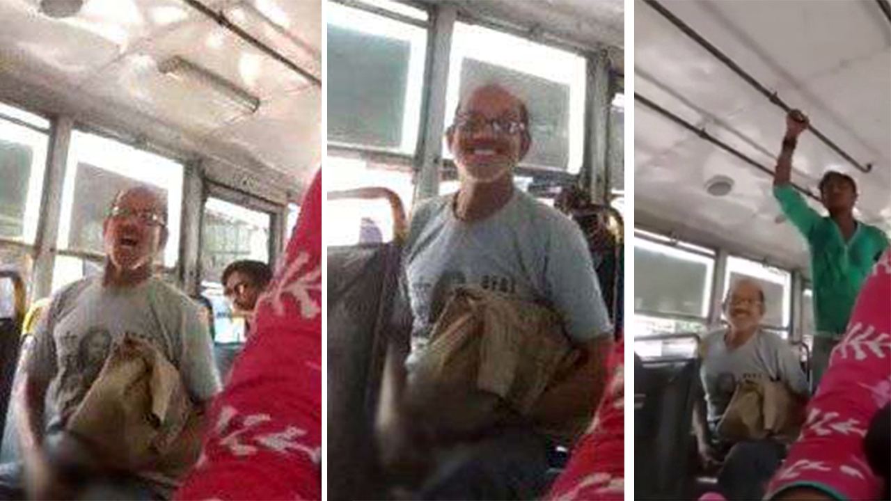 Indian man caught masturbating on a bus is arrested by