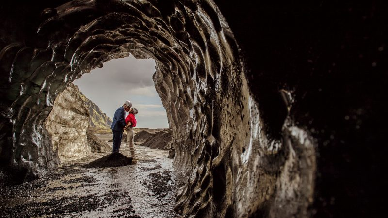 Couple head to centre of the earth to get married inside volcano Image