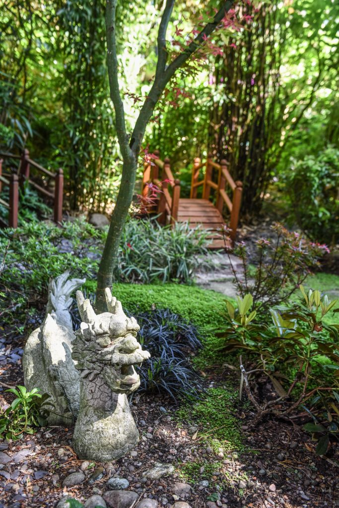 a green fingered couple have transformed their modest wolverhampton back yard into a magical garden complete with folly pergola and japanese tea house - Hidden Garden
