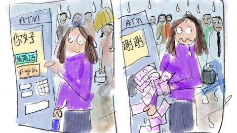 Lone female traveller documents ups and downs of travels in hilarious online comic strip Image