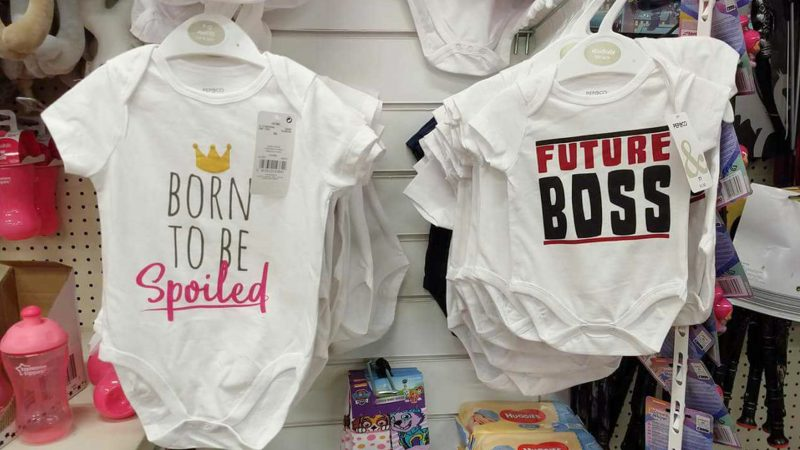 'Bemused' pound land hit back at mum who branded baby grows 'sexist' Image