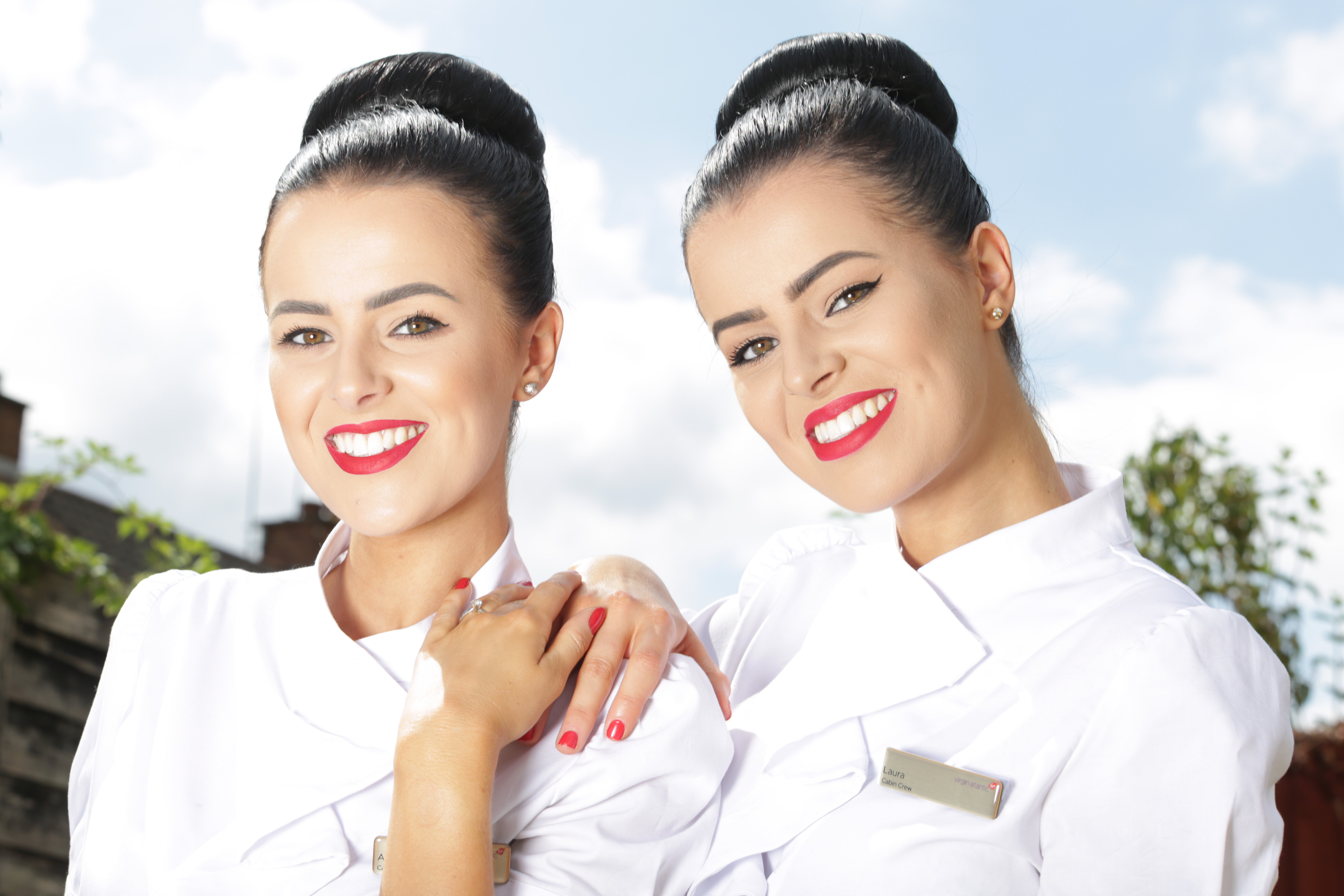 seeing double air hostess twins opt to lead identical lives by