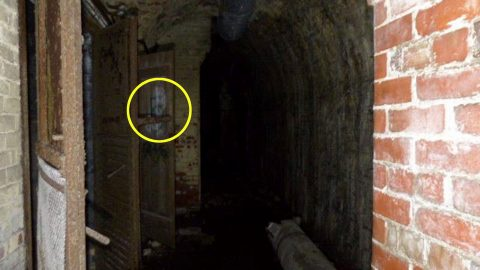 Explorer left shocked when he sees ghost of 'Uncle Fester' in the door of abandoned bunker Image