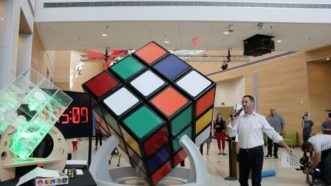 Rubik's cube the size of an average human set to break record for biggest in the world Image