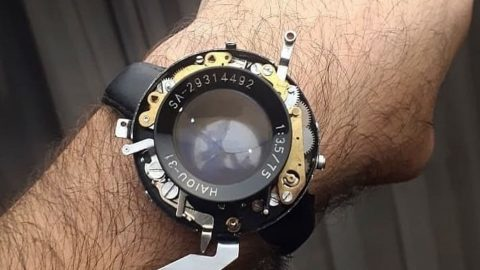 Shooting from the wrist – Photographer successfully turns old camera into working watch that snaps pictures Image