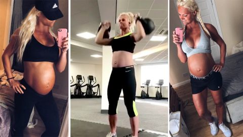 'Pregnant not powerless': Fitness coach and first-time mum hits back at trolls who slammed pregnancy workouts Image