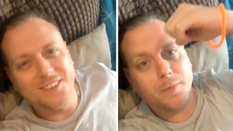 Hilarious footage shows ungrateful father complain about daughter's 'terrible' bracelet she made Image
