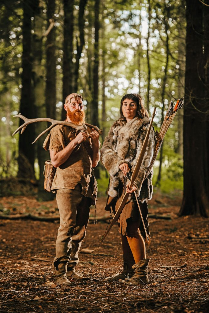 Caveman and woman! Couple live as 'modern stone age people ...