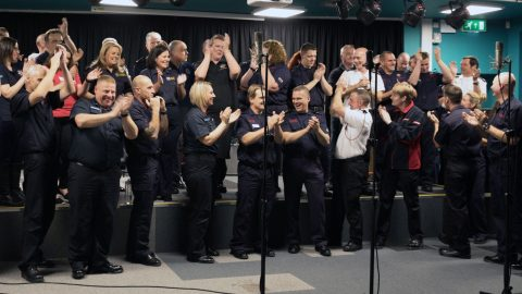 Set to be a flaming success! Hero firefighters launch bid for Christmas number one – backed by Bob Geldof Image