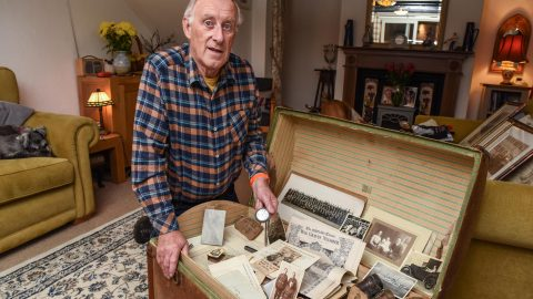 WW1 soldier leaves time capsule containing letters and photographs from the great war to grandson that remains undiscovered for 30 years Image