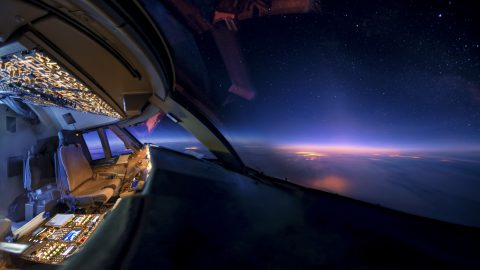 Colourful cockpit – pilot showcases amazing night views from 30,000FT Image