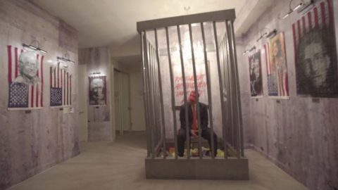 Controversial art installation that saw prison constructed in Trump International Hotel, Banksy and more go up for $1.3m (£1m) Image