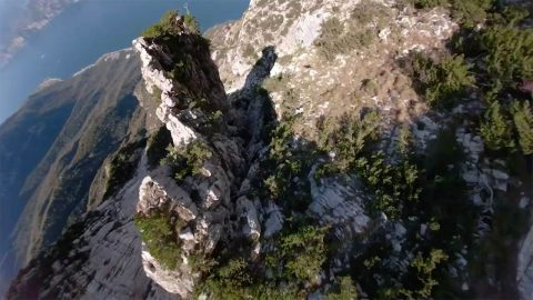 Is it a bird? Is it a plane? Human soars through the mountains! Image