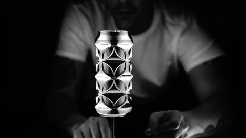 Artist turns humble aluminium cans into geometric masterpieces using just his fingers and thumbs Image