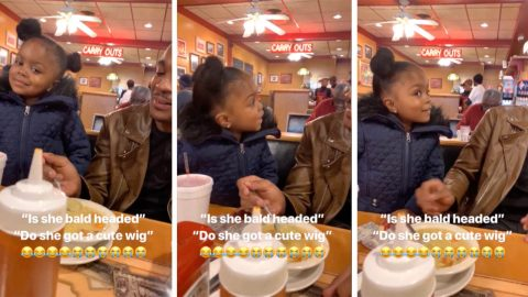 Adorable three year old asks her dad about his new girlfriend Image