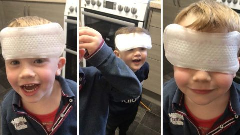 In-sanitary! Young brothers mistake sanitary towels for plasters – leaving family in hysterics Image