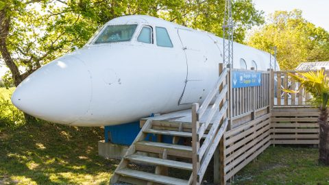 Zzz's on a plane! Man turns old plane into hotel room for four people Image