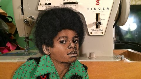 Stitch above! Cleaner creates amazing fabric portraits of musical icons from her kitchen Image