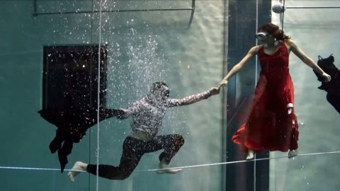 Watch: Duo break record for longest underwater dance performance without breathing Image