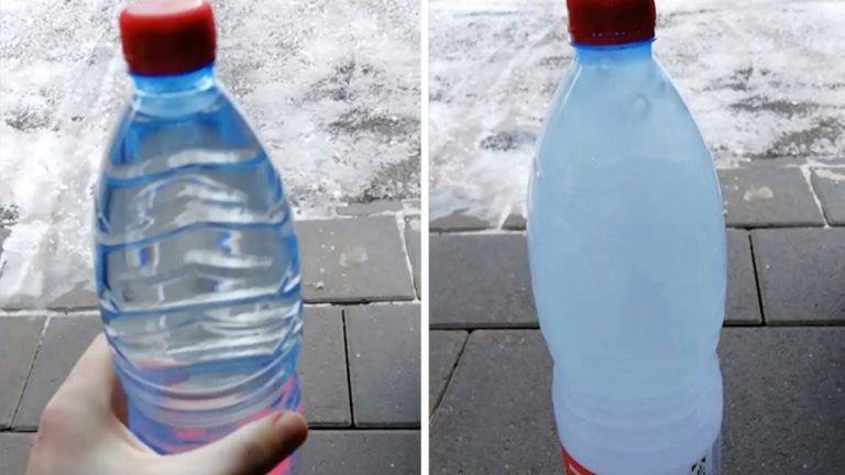 » Amazing moment lad shows water instantly freezing in ...