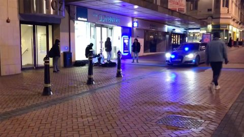 Watch: Beat boxing police car honks in time with street performer Image
