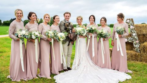 Porky Photobomber - Micro Pig Steals Limelight At Couples Big Day Image