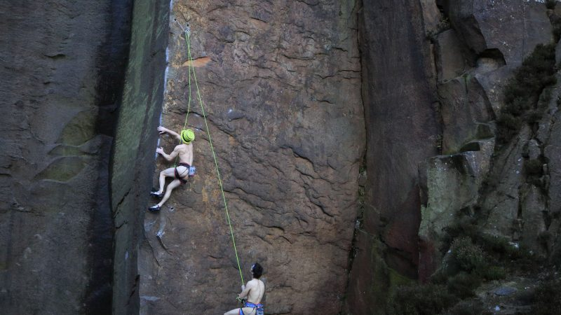 Chilly willy! Hilarious photos show climbers scaling peak – completely naked Image