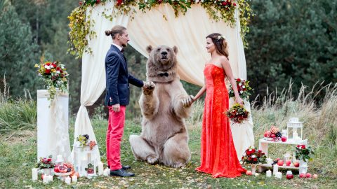 The power of love! Incredible gallery shows couples tying the knot in astonishing places Image