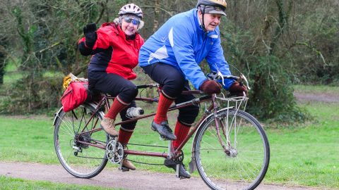 Elderly couple claim secret to happy marriage is tandem cycling after clocking up 200,000 since meeting 70 years ago Image