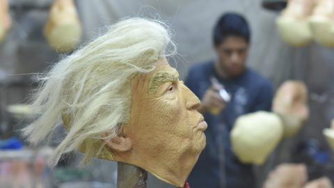 Masking Their Emotions: Bizarre Photos Show Donald Trump Masks Being Made At Factory – In Mexico Image
