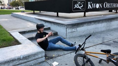 Bmx Rider Dislocates Finger When Trick Goes Wrong Only To Crack Joint Back Into Place Image