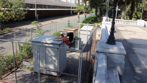 Daredevil scorpion folds after crashing into electrical box Image