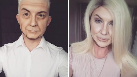 Make-up Artist Transforms Himself Into Phillip Schofield And Holly Willoughby After Spending Four Hours Drawing Duo Image