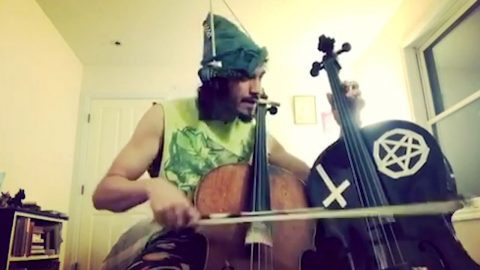 You Had Me At Cello: Skilled Musician Plays Two Cellos At The Same Time Image