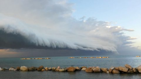 Watch: Scary Shelf Cloud Inches Over Italian Coast As Storms Approach Image