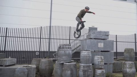 World Record Holding Unicyclist Shows Off Incredible Skills Including Jumping Over One Metre Tall Platform Image