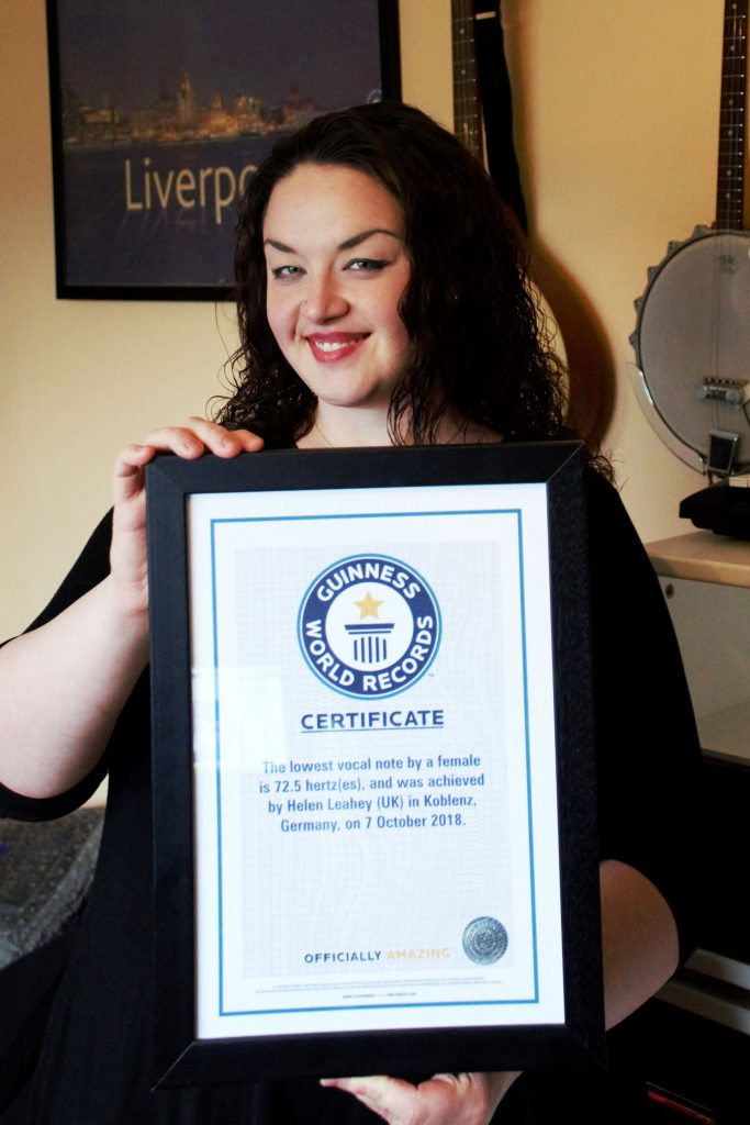 Low Blow! Woman With World Record For Singing Lowest Note