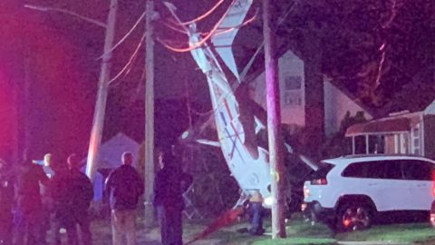 Shocking Footage Shows Plane Crash In Long Island That Three People Miraculously Walk Free From Unscathed Image