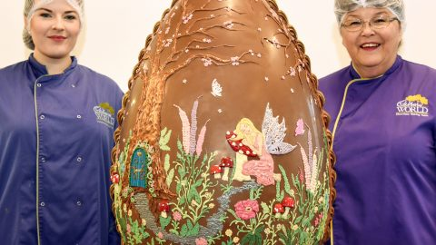 Cracking Job! Meet The Unsung Heroes Of Easter Who Spent Two Days Making Six Stone Easter Egg Image